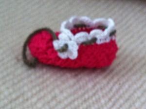 crocheted babybooties
